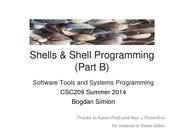 Lecture notes on Shell-part2