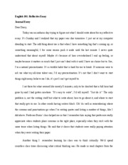 english english reflective essay journal entry dear  english 101 english 101 reflective essay journal entry dear diary today was an arduous day trying to figure out what i should write about for my