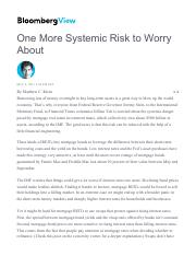 One More Systemic Risk to Worry About - Bloomberg View.pdf