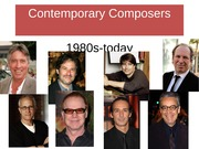 MUSI 101 Lecture Contemporary+Composers