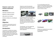 Polymers used in the industry automotive