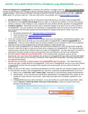 Cengage STUDENT TIPS for using CengageNOW1 (1).docx