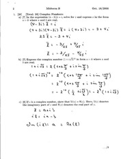 MATH 133 Fall 2010 Midterm 2 Solutions