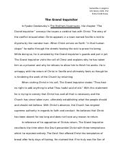 The Grand Inquisitor Extra Credit Essay History 1301.docx