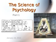 1 Science of Psychology Part 1 student version