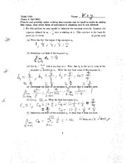 Exam D Fall 2011 Solutions on Calculus
