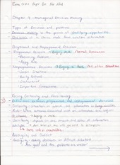 Bus Adm 382 Chapter 9 Managerial Decision Making Lecture Notes