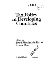 TaxPolicyinDevelopingCountries