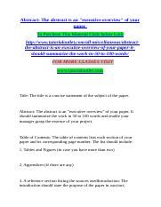 Abstract The abstract is an executive overview of your paper.docx