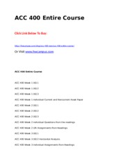 ACC 400 Entire Course.doc