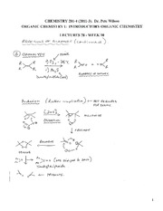 CHEM 281 2011-3 Lecture Notes 28 - WEEK 10
