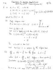 Final exam 2009 solutions