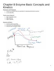 Chapter 8 Enzyme Basic Concepts and Kinetics.docx