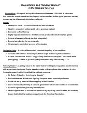 US History Document - Mercantilism & Salutary Neglect - 9-23-13.pdf