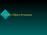 direct object pronouns 1