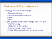 First Law of Thermodynamics (1)