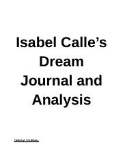 Isabel Calle's Dream Journal and Analysis