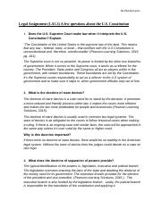 Legal Assignment (LA5.3) A few questions about the U.S. Constitution.docx