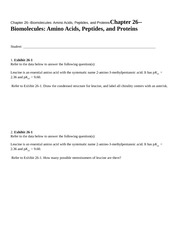 Chapter 26--Biomolecules Am