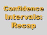 2 - Recap of Conf Intervals