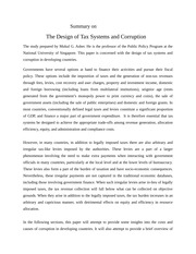Summary on The Design of Tax Systems and Corruption