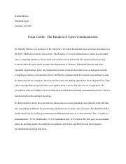 Extra credit- The Paradox Of crisis communication.docx
