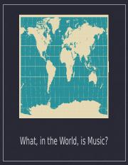 World Music Chapter 1 Powerpoint Spring 2016
