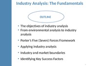 MGMT 110: Industry Analysis Lecture (Lane)