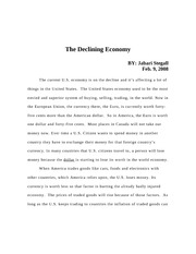 The Hurting Economy Essay