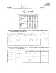 Specific-Heat-Worksheet-Solutions