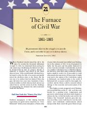 chapter 21 the furnance of civil war