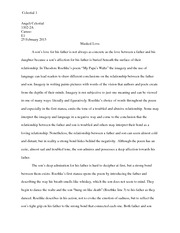 two kinds and everyday use response theresa murante a  6 pages my papa s waltz essay