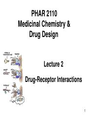 Lecture 2 Drug receptor interactions