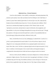 rev Pharmacoloy-Admission-Essay