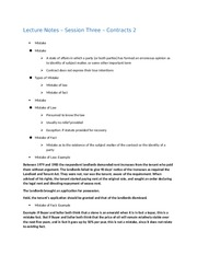 Lecture Notes - Session Three