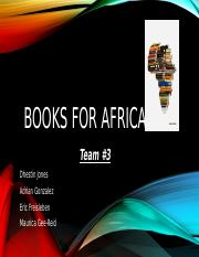 Books For Africa Powerpoint