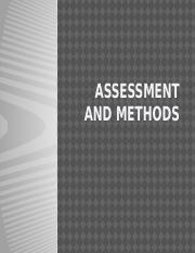 Lecture 2 - Assessment and Methods
