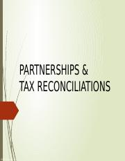 Partnerships & Tax Reconciliations Slides.pptx