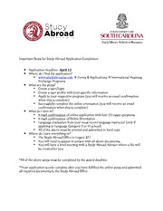 Important Steps for Study Abroad Application Completion