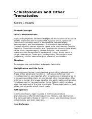 Schistosomes and Other Trematodes.doc