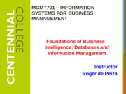 Class 6 - Databases and Information Management - F15