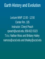 Lecture 15, Oct 28  Evolution and the Fossil Record II No Videos.pptx