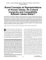 Brand Concepts as Representations of Human Values