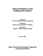 Software Reliability Growth Modeling and Prediction