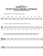Assignment 4 - Seventh Chords, Melodies, and Basses