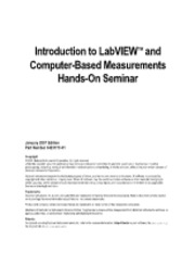 Intro to Labview and computer-based measurements