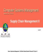 L06 supply chain management II