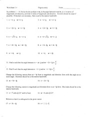 Printables Trig Identities Worksheet 3.4 Answers 2 4 5 a worksheet over trigonometry name 1 pages 3 4