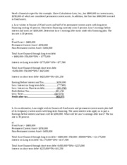 FIN200 Week 5 Assignment Alternative Financing Plans