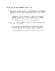 MATH 1451 Fall 2011 Week 1 Quiz Solutions